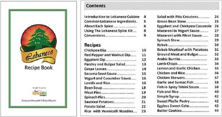 Lebanese Spice Kit Recipe Book