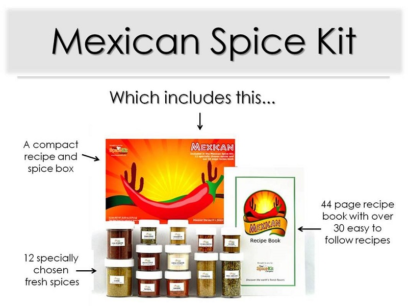 Mexican Spice Kit- Easy Mexican Cooking at Home